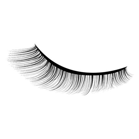 Eye lashes vector icon. Lashes vector Ilustração
