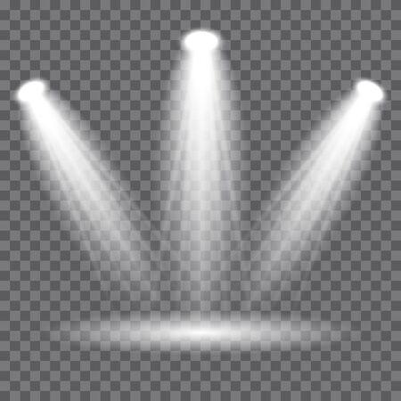 Scene illumination, transparent effects. Vector Spotlights, Light Effects. Фото со стока - 132882537