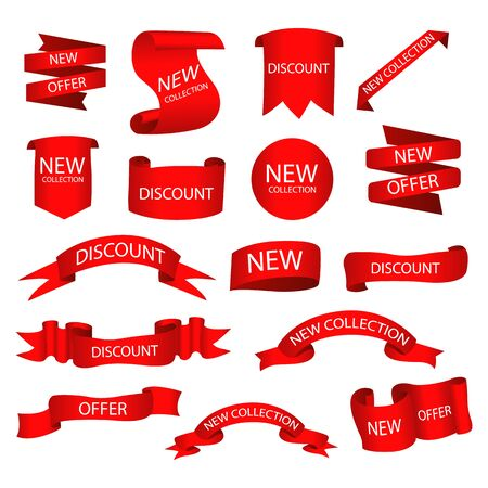 Set of tags with text. Vector badges and labels isolated. Фото со стока - 133066558