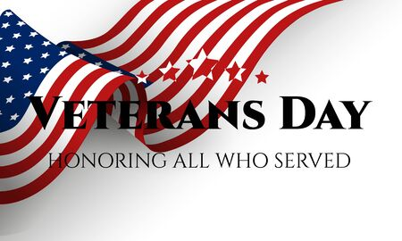 Veterans day. Honoring all who served. November 11. Vector illustration