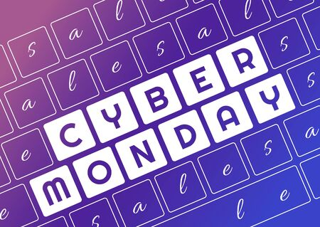 Cyber Monday. Cyber Monday of Keyboard lettering . Archivio Fotografico - 134452825