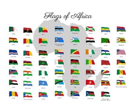 All national flags of the world. Waving flag Archivio Fotografico - 134208275
