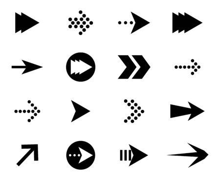 Set of black vector arrows. Arrow icons Archivio Fotografico - 134208460