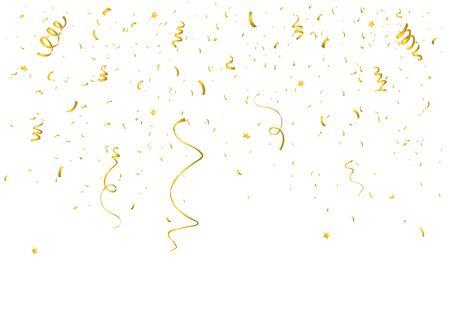 Coriandoli luminosi colorati isolati su sfondo trasparente. Illustrazione vettoriale festivo