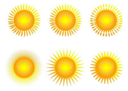 Sun icon set, vector illustration Archivio Fotografico - 134452375