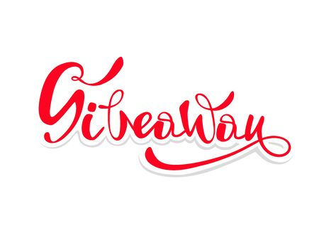 Giveaway Banner Card with Lettering. Vector illustration eps 10.
