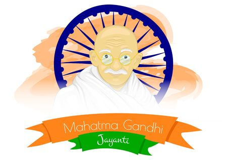 Gandhi Jayanti is a national holiday in India celebrated. National holiday for happy gandhi jayanti. Vector illustration Ilustrace