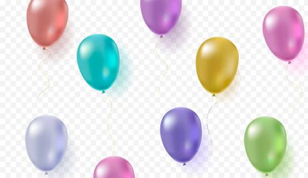 Colorful helium balloon background for party