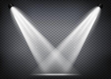 Scene illumination. Light exclusive use lens flash light effect. Lighted scene. podium under the spotlight.