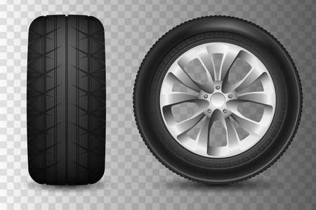 Realistic Auto wheels. File contains gradients, blends and transparency. No strokes. Illustration