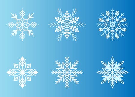 Snowflake symbol collection for design Christmas and New Year banner and cards.