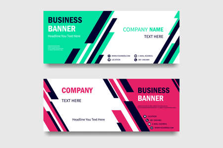 set of horizontal white banners with triangular shapes for a photo. Vector abstract banner design web template  イラスト・ベクター素材