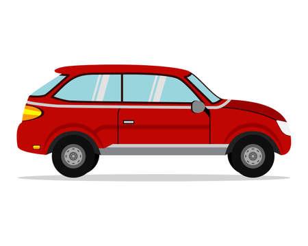 Red Car. Business sedan isolated. Vehicle branding mockup.  イラスト・ベクター素材