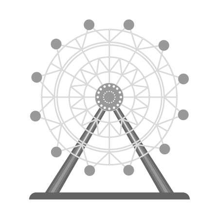 ferris wheel  Tourist attraction Travel, journey concept.  イラスト・ベクター素材