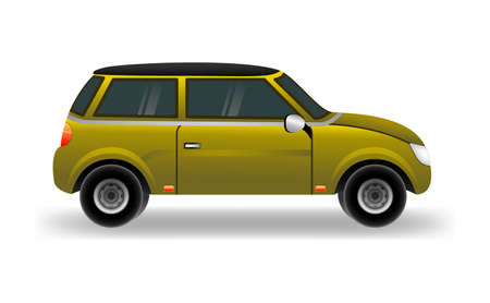 Vector retro car. Easy to edit and recolor.