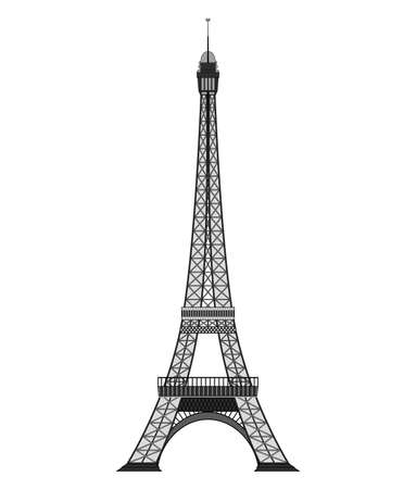 Tourist attraction Paris eiphil tower Travel, journey concept. Famous monuments of world countries. Ilustracja