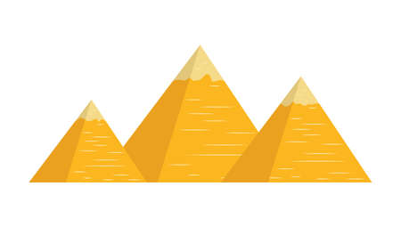 Pyramids Tourist attraction. Travel, journey concept. Famous monuments of world countries. Ilustracja