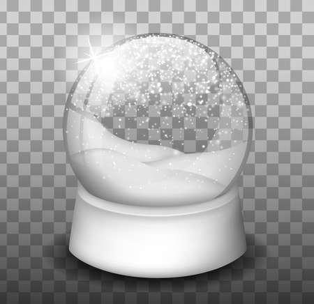 Snowball. Gift. Snowfall. Winter. Souvenir. Snow Globe and Dome. Vettoriali