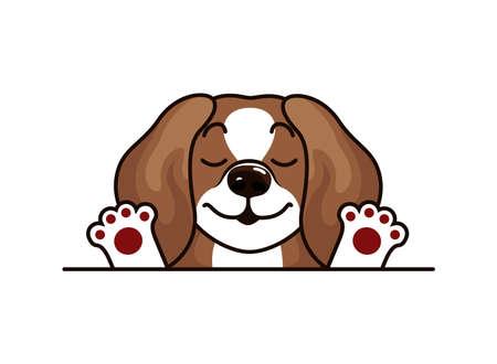 Beagle Puppy Vector Illustration. Dog isolated Vettoriali