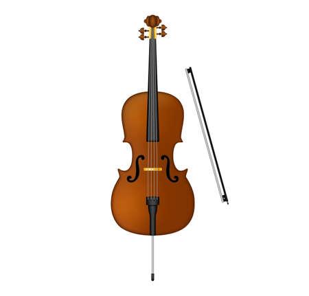 ello violoncello . cello stock vector illustration isolated on white background Иллюстрация