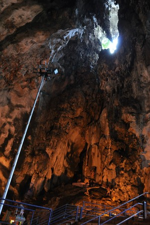Inside Batu Cave, texture photo