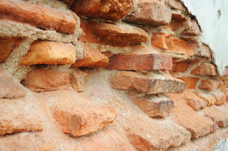 Close up old rusty bricks texture photo