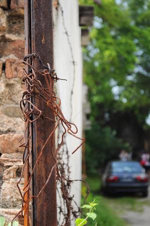 Old rusty bricks texture photo