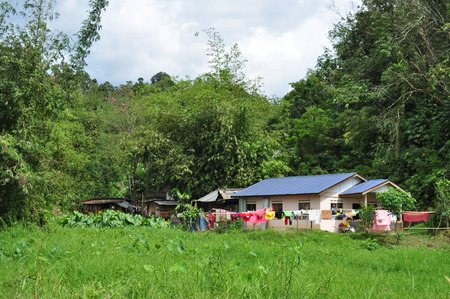 Malaysia village wooden house