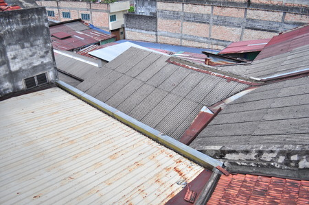 Asia old houses rooftop Stock Photo