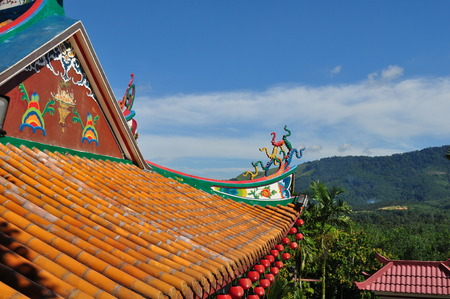 Roof tiles temple chinese photo