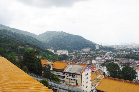 Far view of Penang houses photo
