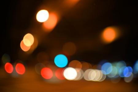 Colorful circle blur bokeh photo