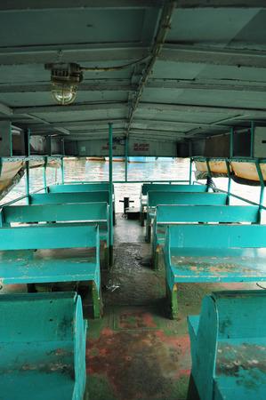Old grunge interior passenger seat photo
