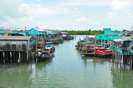 fishing village: Fishing Village, Pulau Ketam, Malaysia Stock Photo