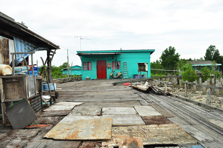 pulau: Fishing Village, Pulau Ketam, Malaysia Stock Photo