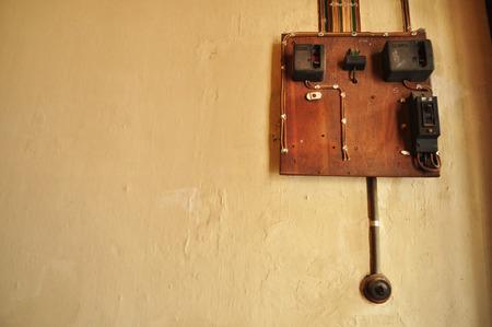 bakelite: Old Vintage bakelite light switch system Stock Photo