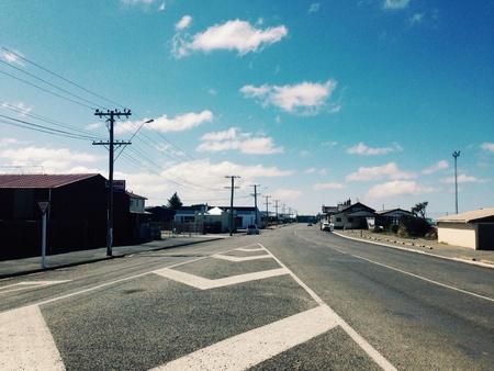 semen: Highway road around the housing area Stock Photo