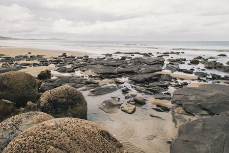 boulders: Moeraki Boulders Beach