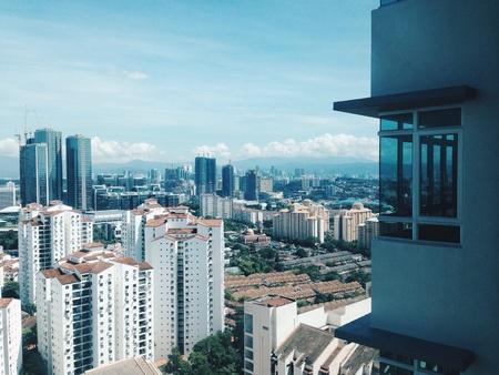 kl: KL and Bangsar view from Pantai Hillpark, Malaysia