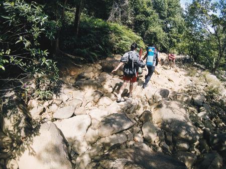 adventurers: Hiking Trip Stock Photo