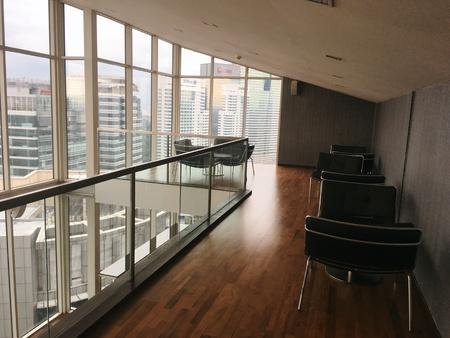interior: Duplex library interior design