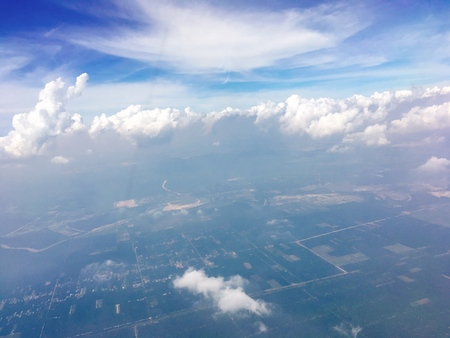 Cloudy and land