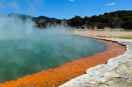 Champagne Pools at Wai-O-Tapu Thermal Wonderland; Rotorua, New Zealand