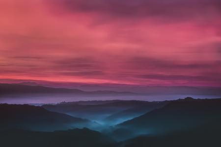Beautiful sunset background.