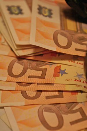 spreaded: Spreaded 50 Euro notes, money is important and one of the most wished things ever.