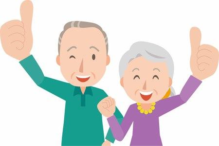 happy older couple: Happy smiling senior couple Illustration