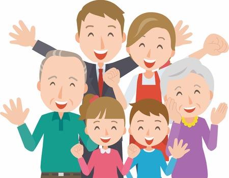 three generations of women: Healthy family(Three generations)