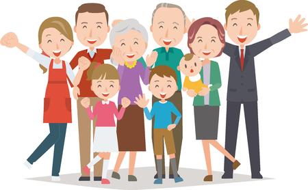 健康な家族 (4 代)  イラスト・ベクター素材