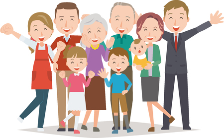 건강한 가족 (4 대)