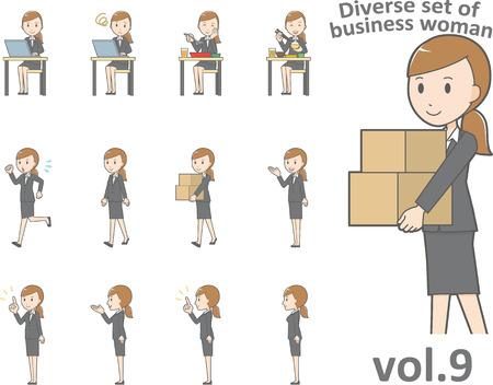 ビジネスの女性、EPS10 形式 vol.9 の多様なセット  イラスト・ベクター素材